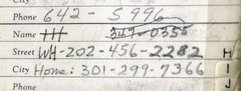 Bernard Barker's Address Book With Howard Hunt's White House Phone Number