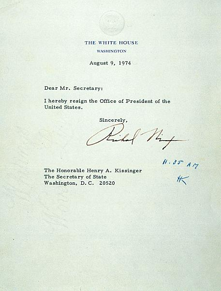 Click here to read the full text of Nixon's Resignation Speech